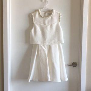 Sandro Paris Honeycomb Dress in White - Size 2